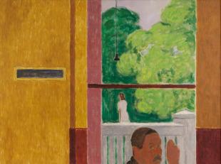 Pohled do zahrady (Okno s autoportrétem)
