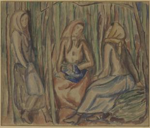 Tři dívky v lese
