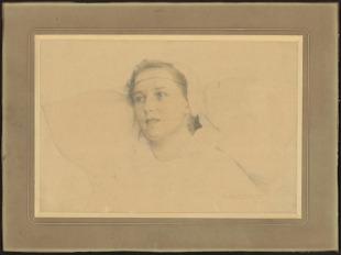 Portrét dívky v kroji